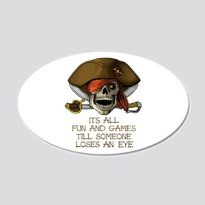 Its All Fun & Games 20x12 Oval Wall Decal