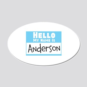 Personalized Name Tag 20x12 Oval Wall Decal