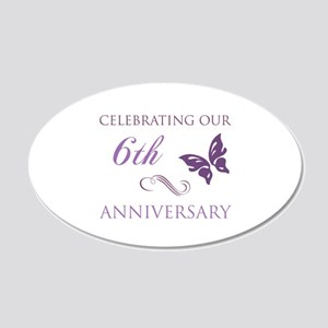 6th Wedding Aniversary (Butterfly) 20x12 Oval Wall