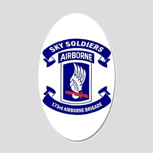Offical 173rd Brigade Logo 20x12 Oval Wall Decal