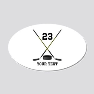 Ice Hockey Personalized 20x12 Oval Wall Decal