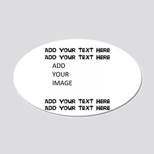 Custom Text And Image 20x12 Oval Wall Decal