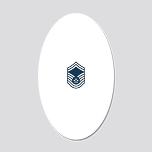 USAF-SMSgt-X 20x12 Oval Wall Decal