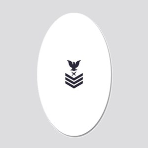 USCG-Rank-IS1-Blue-Crow- 20x12 Oval Wall Decal