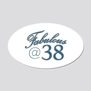 Fabulous at 38 20x12 Oval Wall Decal