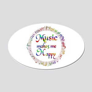 Music makes me Happy 20x12 Oval Wall Decal