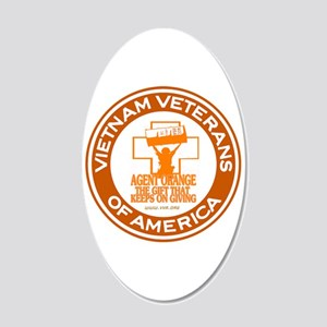 VVA Orange 20x12 Oval Wall Decal