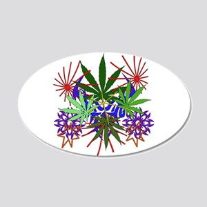 Marijuana Art 20x12 Oval Wall Decal