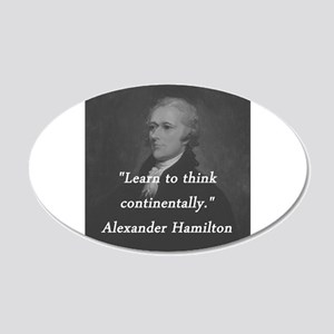 Hamilton - Learn to Think 20x12 Oval Wall Decal