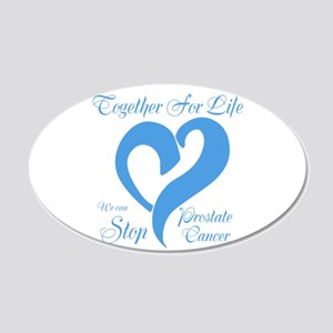 Stop Prostate Cancer 20x12 Oval Wall Decal