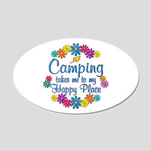 Camping Happy Place 20x12 Oval Wall Decal
