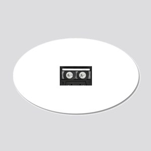 Cassette 20x12 Oval Wall Decal