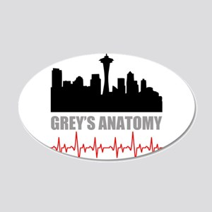 Grey's Anatomy Seatle 20x12 Oval Wall Decal