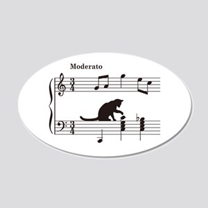 Cat Toying with Note v.2 20x12 Oval Wall Decal