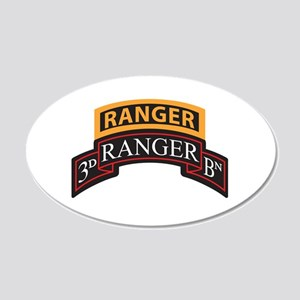 3D Ranger BN Scroll with Rang 20x12 Oval Wall Peel