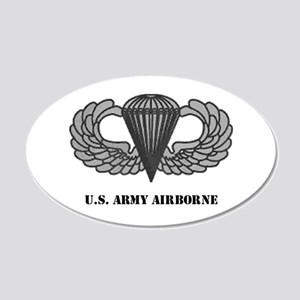 Basic Airborne Wings 20x12 Oval Wall Peel