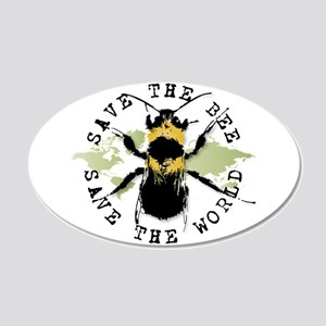 Save The Bee... 20x12 Oval Wall Peel
