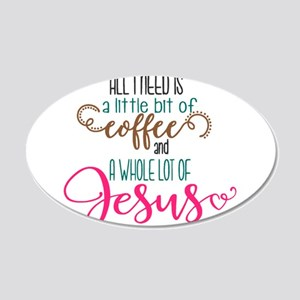coffee and jesus Wall Decal