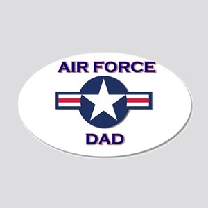air force dad 22x14 Oval Wall Peel