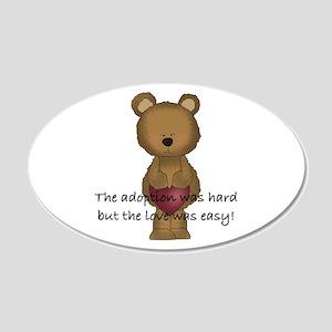 Adoption Bear 22x14 Oval Wall Peel