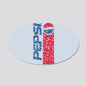 Pepsi Flashback Bubbles 20x12 Oval Wall Decal