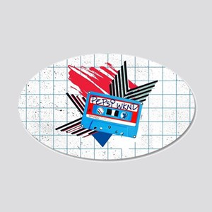 Pepsi Flashback Cassette 20x12 Oval Wall Decal