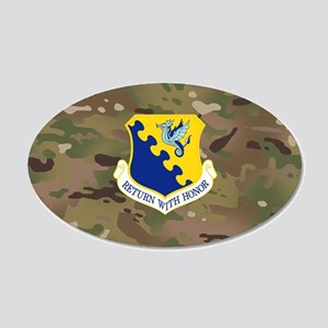 31st Fighter Wing 20x12 Oval Wall Decal