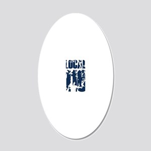 116back1 20x12 Oval Wall Decal