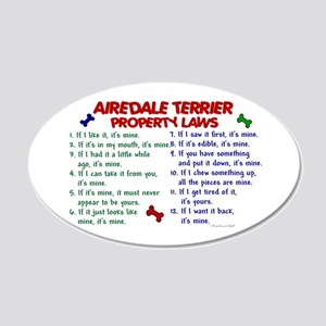 Airedale Terrier Property Laws 2 20x12 Oval Wall P