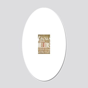 Millions 20x12 Oval Wall Decal