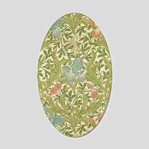 William Morris Iris 20x12 Oval Wall Decal