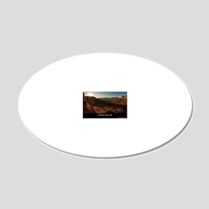 BELL ROCK VIEW_v2_CAFE PRESS 20x12 Oval Wall Decal