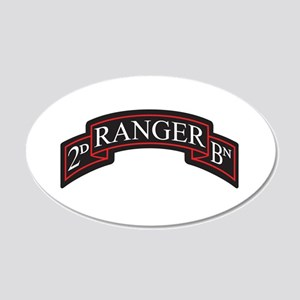 2D Ranger BN Scroll 20x12 Oval Wall Peel