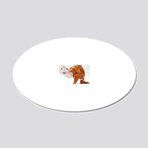 turky-poop 20x12 Oval Wall Decal