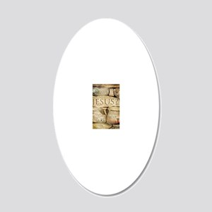 Names of Jesus Christ 20x12 Oval Wall Decal