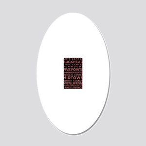 MARTA Red Line 20x12 Oval Wall Decal