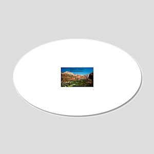 Boynton Canyon8x6 20x12 Oval Wall Decal
