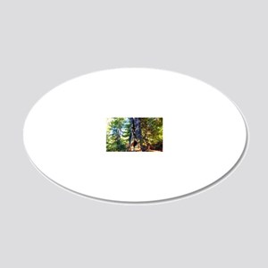 Redwood Forest 20x12 Oval Wall Decal