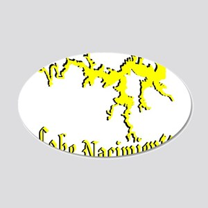 LAKE NACIMIENTO [4 yellow] 20x12 Oval Wall Decal