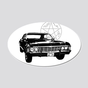 Impala with devils trap 20x12 Oval Wall Decal