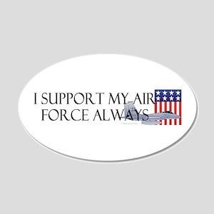Air Force Always 22x14 Oval Wall Peel