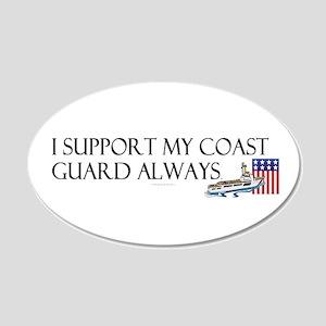 Coast Guard Always 20x12 Oval Wall Decal