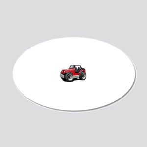 Jeep Red 20x12 Oval Wall Decal