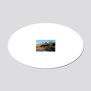 cathedral reflection 20x12 Oval Wall Decal