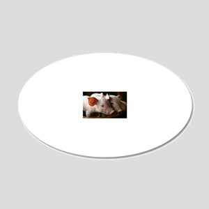 Piglets 20x12 Oval Wall Decal