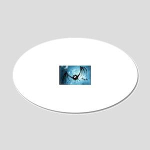 bat_blue_miniposter_12x18_fu 20x12 Oval Wall Decal