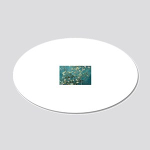 Van Gogh Almond Branches In  20x12 Oval Wall Decal