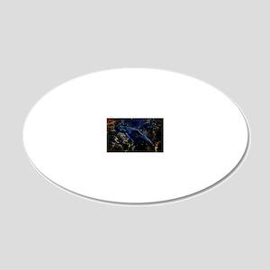 STEELHEADCafePressInWater 20x12 Oval Wall Decal