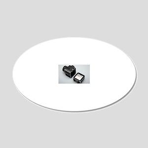 Medium format film camera 20x12 Oval Wall Decal