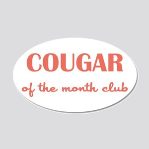 COUGAR of the MONTH CLUB 20x12 Oval Wall Decal